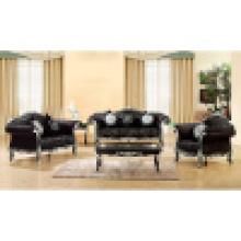 Sitzgruppe mit Holzsofa und Beistelltisch (650B)