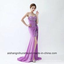 Женщины Светло-Фиолетовый Без Рукавов Сексуальное Вечернее Платье