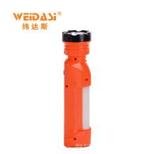 Hohe Effizienz Solar Taschenlampe WD-521 Wiederaufladbare Taschenlampe tragbare Lampe