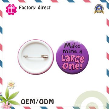 China fábrica de promoção por atacado personalizado Pin Tin Button Badge