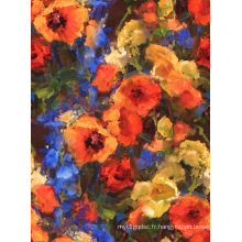 Tissu imprimé de fleurs pour le tissu de maillots de bain (ASQ066)