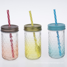 glass bottle without handle for drinks   colorful  galss cups  juice jar