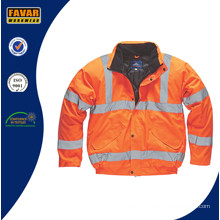 Orange Waterproof Hi Vis Bomber Jacket