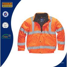 Veste imperméable orange haute visibilité