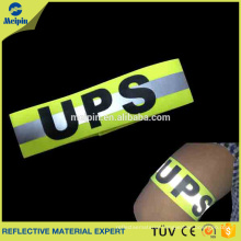 Custom High Visibility Fluorescent Yellow or Orange Sports Reflective Armband