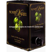 Sac d'huile d'olive dans la boîte / sac d'emballage d'huile comestible / sac de bavette pour l'emballage d'huile
