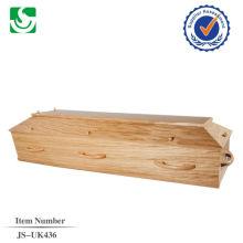 vente directe de style européen chêne adulte cercueil en bois fabriqué en Chine