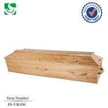 direct sale European style oak wood adult coffin made in China