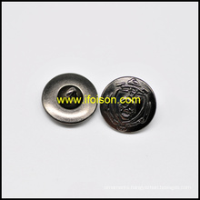 Metal Shank Button with Skull Parttern