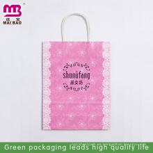 El papel del diseño de la bolsa de papel de la Navidad del material orgánico del tamaño A3 papel lleva el uso de la publicidad