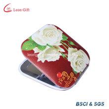 Espelhos de maquiagem vermelha linda flor à venda