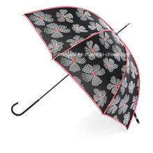 Beautiful Flower Printing Cover Straight Rain and Sun Umbrella (YSC0009)
