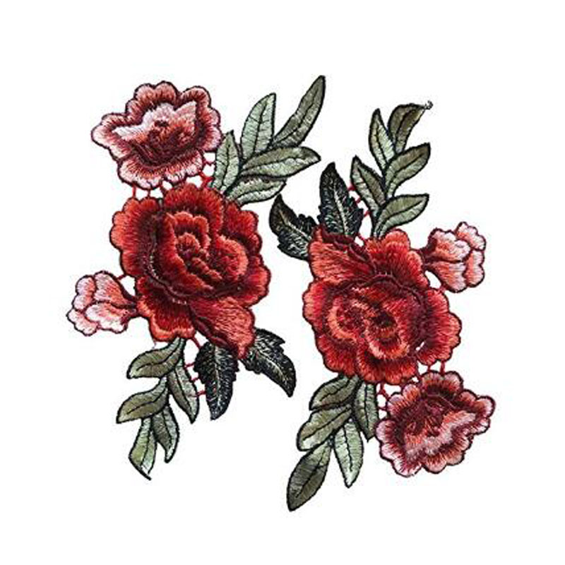 Chinese Peony Flower Sew On Patches