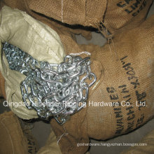 E. Galvanized Short Link Chain Packing with Gunny Bag 3mm-42mm
