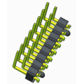 2.54mm Pin Header Dual Row Straight SMT Type