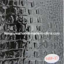 Expert Distributor of Black Crocodile Grain Leather for Decorative