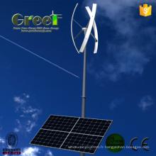 Système hybride solaire de 10 kW éolienne pour usage agricole