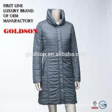 Femmes Light Goose Long Down Coat pour commande personnalisée