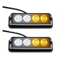 4.3Inch 4W LED Mini motocicletas Iluminación de emergencia de alta potencia Luz estroboscópica Grill Light Luz de advertencia súper delgada