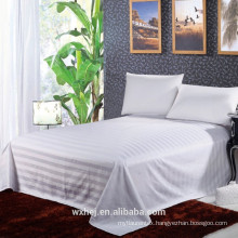 100% cotton/polyester fabric satin strip fabric for hotel bed sheet