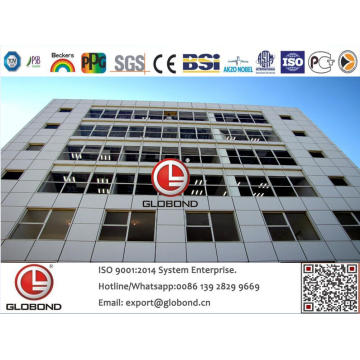 Globond Plus PVDF panneau composite en aluminium (PF135)