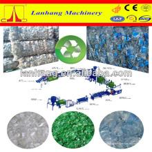 Linha de reciclagem de garrafas de resíduos de PET / processo de retirada