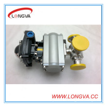 Hotsale Pneumatic 3 Way Clamped Ball Valve