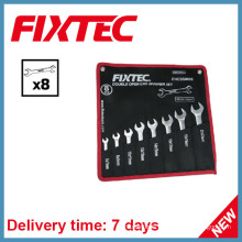 Fixtec Hand Tools 8PCS Carbon Steel Double Open End Spanner Set