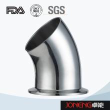 Coude en acier inoxydable en acier inoxydable 45D avec collier (JN-FT5005)