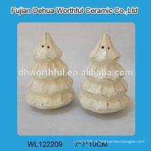 Alta qualidade de cerâmica árvore de Natal sal e pimenta shaker