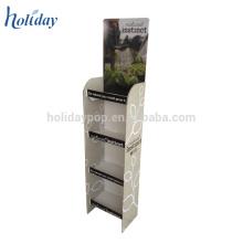 Étagères de magasin de matériel de papier de carton de position et présentoir pour le cosmétique