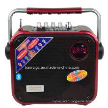 Mini haut-parleur sans fil portatif et rechargeable de 8 pouces puissance 40W F83
