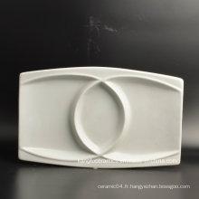 Personnaliser la plaque de vaisselle en porcelaine de forme