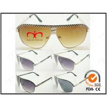 Spécial avec grille décorée pour lunettes de soleil en métal pour homme (WSM503002)