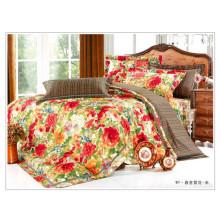 100% coton mignon housse de couette en duvet de fleurs style coréen style édredon en gros set de literie