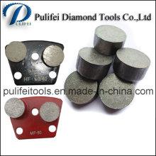 Segment de meulage de forme arrondie de diamant pour le plancher et le béton