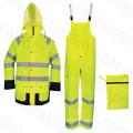 PVC Coating High Visibility Reflective Safety Rainsuit