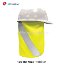 100% poliéster cal sombrero duro Nape Protector Reflectante Hola Vis borde completo seguridad sol sombra para la cabeza cuello protección