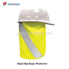 100% Polyester Lime Hard Hat Nape Protector Reflective Hi Vis Full Brim Safety Sun Shade For Head Neck Protection