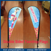 Freestanding Teardrop Banner Flags with Spike Base