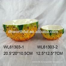 Elegante Ananasform Keramikschale