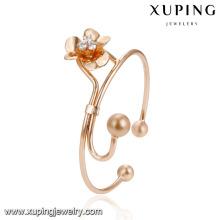51940 Gros mode femmes bijoux style élégant perles fleur forme avec imitation diamant bracelet