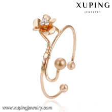 51940 Wholesale fashion women jewelry elegant style beads flower shape with imitation diamond bangle
