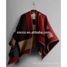 15JW0226 Frauen Großhandel Acryl Pullover Poncho Wrap Pullover