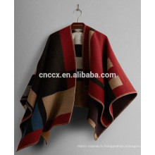 15JW0226 femmes en gros pull acrylique poncho wrap pull