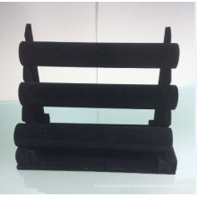 3 Tiers Black Velvet Watch Display Stand (AIO-WD-N3)
