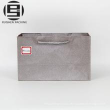 Personalisierte quadratische untere Papiereinkaufstaschen
