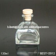 botella de vidrio con aroma de yurt; botella de vidrio transparente con tapón de goma