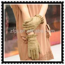 Señora gruesa guantes de invierno guantes de cuero
