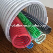Tubo flexible reforzado espiral flexible de la manguera del pvc de la manguera / del pvc del alambre de acero de la categoría alimenticia